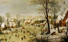 Pieter Bruegel the Elder Winter Landscape with a Bird Trap Canvas Print