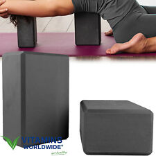 YOGA BLOCKS FOAM High Density Exercise Training 2 Pack Comfort Home Gym Workout
