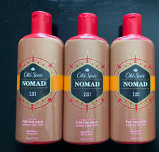 3 Old Spice Nomad 2 in 1 Shampoo & Conditioner for the hair 12 oz.