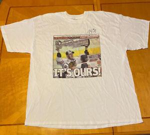 Patrick Sharp Autograph 2010 Chicago Blackhawks Stanley Cup Champ T-Shirt Sz XXL
