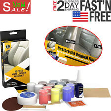 Diy Leather Vinyl Repair Kit Scratch Auto Car Seat Sofa Restoration Recolor 30pc