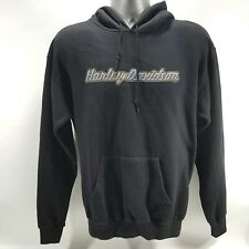Harley Davidson Mens Sweater Pullover Hoodie Black  VINTAGE Made In USA  Size M