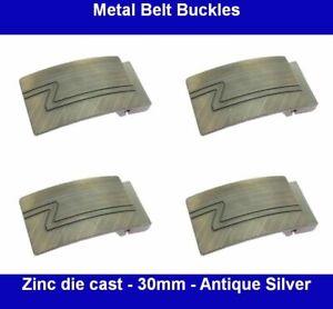 Metal Belt Buckles - 30mm - Zinc die casting - ANTIQUE SILVER