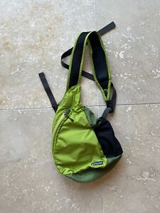Patagonia Green Nylon Side Sling Messenger Bag