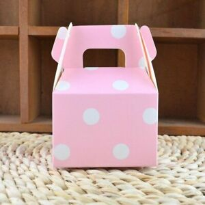 Polka Dot Gift Box Paperboard Kraft Boxes For Party Event Favors Packaging 20pcs