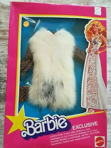 Vintage - 1979 Barbie Superstar Fashions Exclusif Real Cuir & Fourrure Européen