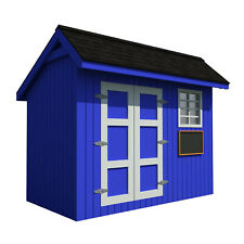 Kids Playhouse Plans DIY Backyard Storage Shed Workshop Mini Cottage Guest House