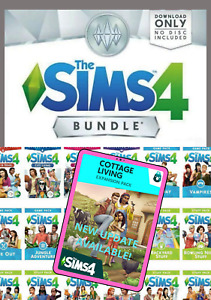 🔥 The Sims 4 All Expansion Packs - DLC 🔥 + Cottage Living Update 🔥 [PC & Mac]