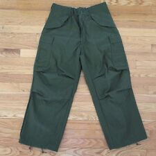 VINTAGE M-65 M65 1972 FIELD TROUSERS PANTS SATEEN OG-107 SMALL SHORT NOS UNISSUE