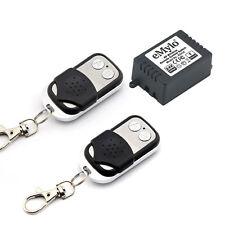 Rf 24V 1X1Channel Relay Wireless Smart Remote Control Switch Kit & 2 Transmitter