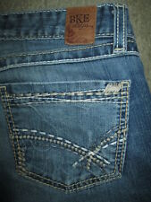 BKE Kate Boot Cut Thick Stitch Stretch Med Blue Denim Jeans Women Size 30 x 32.5