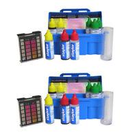 Taylor Swimming Pool & Spa Water 4-In-1 Chlorine Bromine pH Test Kit (2 Pack)