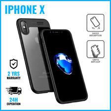 Auto Focus Armor Cover Cas Coque Etui Silicon TPU Hoesje Case Black For iPhone X
