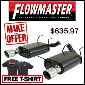 """FOR 2011-2014 FORD MUSTANG 5.0 5.4 AXLE CAT BACK SYSTEM W//DUAL 4/""""OD EXHAUST TIP"""