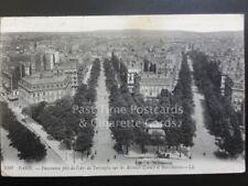 France: PARIS - Panorama pris de l'Arc de Triomphe sur les Avenue Carnot c1907