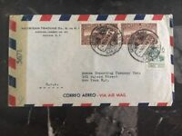 1944 Mexico City Mexico Censored Airmail Cover To New York Usa Brann Importing C