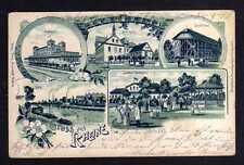 115106 AK Rheine 1905 Litho Bahnhof Gymnasium Gradirhaus Soolbad Gottesgabe Ems