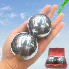 2x 53mm Chinese Baoding Balls Health Hand Exercise Stress Relaxation Therapy