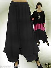 ☸ڿڰۣPoCo DeSiGn LAGENLOOK Ballonhose Shirt- Marlene-Hose Volant L-XL-XXL-XXXL