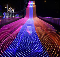 LED Net Mesh Starry Fairy String Lights Xmas Indoor Outdoor Christmas Decoration
