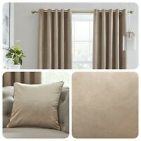 Laurence Llewelyn-Bowen MONTROSE Linen Blackout Velvet Eyelet Curtains Cushions
