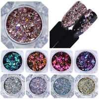 BORN PRETTY Chameleon Holographics Nail Glitter Sequins Rose Gold Flakies Powder
