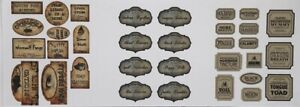Dolls House Miniature Halloween,Potion Labels (DD276) Additional Items P&P FREE