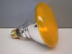 Sylvania 100/OPAR/FL/Y/RP Yellow Flood Lamp Light Bulb 100W 120V Indoor/Outdoor