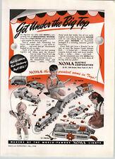 1946 PAPER AD Noma Toys Car Camper RV Train Cameo Kewpie Ferry Boat