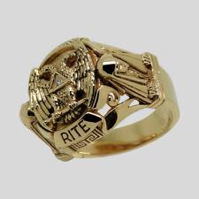 Scottish Rite Masonic Ring 14K Gold Diamond Knights Templar Size 12 by UNIQABLE