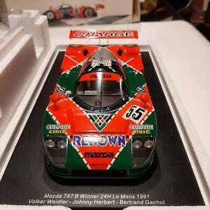 1/18 Spark Mazda 787b 1991 Le Mans Winner Not CMR minichamps autoart