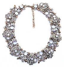 IRIDESCENT AURORA BOREALIS CRYSTAL RHINESTONE Choker Collar Statement Necklace