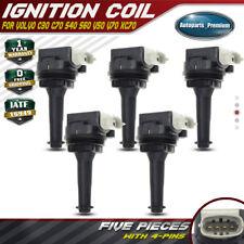5x Ignition Coils for Volvo C30 C70 S40 S60 V50 V70 XC70 2.4L 2.5L Turbo UF-517