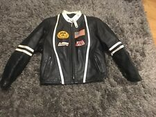 Schott Perfecto Black Motorcycle Moto Biker Leather Jacket Coat Vintage SZ 46