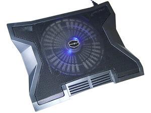 15 17 Zoll Notebook Laptop Kühler Kühlpad Unterlage mit USB Hub 23cm Lüfter