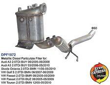 Metallic DPF Diesel Particulate Filter for AUDI A3, SKODA OCTAVIA VW GOLF PASSAT