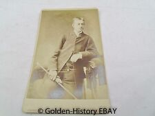 MAN WITH RIDING CROP HORSE  NEWARK VICTORIAN CDV CARD CABINET PHOTO PHOTOGRAPH