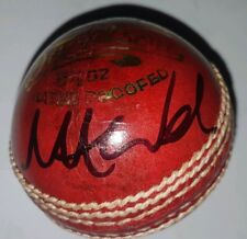 MARK WOOD SIGNED LEATHER Cricket ball PROOF COA Waugh Ponting Warne