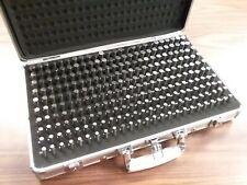 Pin Gage Set M2 0251 0500 Minus Tolerance 250 Pins Metal Case 707b 755mc