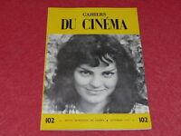 [REVUE LES CAHIERS DU CINEMA] N°102 # DEC 1959 JEAN RENOIR Rohmer EO 1rst Print