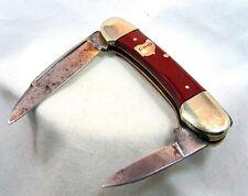 "GERMAN EYE CARL SCHLIEPER POCKET KNIFE INLAID ""OHIO"" 2 BLADE c.1920'S"