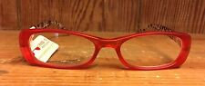 """Peepers NWT """"queen of the jungle"""" Red/brown Reading Glasses. Strength 2.25"""