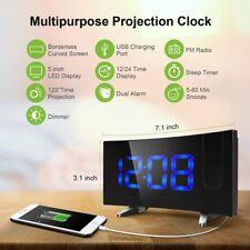 Digital Radiowecker mit Projektor Projektion LED Display Snooze Wecker FM Radio