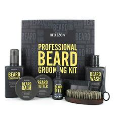 8PC Beard Care Set Beard Kit Portable Metal Gift Box Cleaning Nourish Care Tools