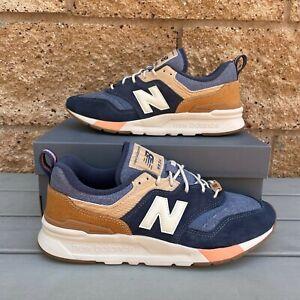 New Balance 997 'Navy Brown' Men's Navy/Workwear Brow Athletic Sneaker CM997HAK