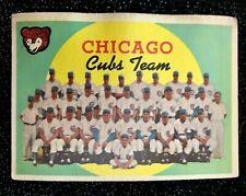 1959 Topps Chicago Cubs Team #304 Baseball Card GOOD