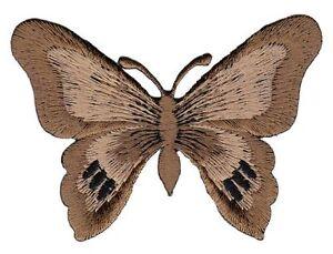 Bg72 Butterfly Braun Butterfly Children Sew-On Application Patch Animals