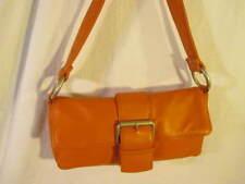 Wilson's Leather Maxima Orange Leather Hand Bag EUC