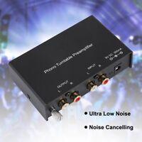 Mini Phono Preamplifier RCA Vorverstärker Dual-Kanal Stero Plattenspieler Preamp