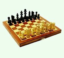 LARGE 20CM X 20CM BRAND NEW CLASSIC FOLDING WOODEN CHESS SET CHESS BOARD GAME